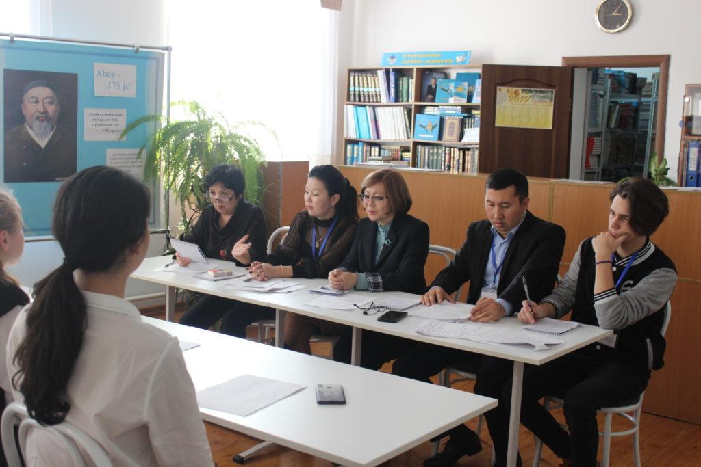 19.11.2019 г.  – второй день работы  институциональной комиссии в Алматинском государственном гуманитарно-педагогическом колледже №2.
