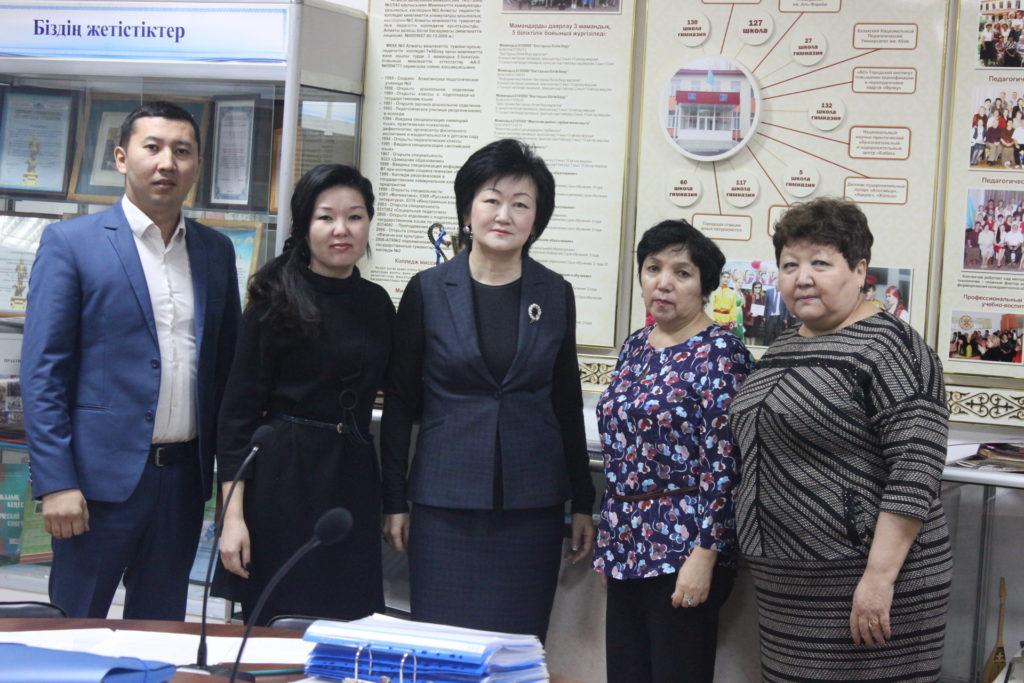 20.11.2019 г. В рамках институциональной аккредитации члены экспертной комиссии посетили ряд учебных заведений г Алматы, которые являются базами практик.