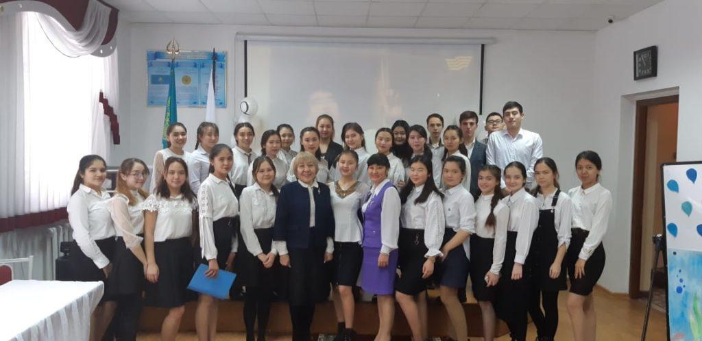 В рамках празднования Дня Первого Президента РК 29.11.2019 г. был проведен единый кураторский час «Современный Казахстан. Уроки лидерства Елбасы».
